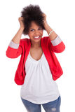 amerykanin afrykańskiego pochodzenia piękna portreta kobieta Zdjęcie Royalty Free