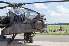 Amerykanin AH 64 longbow apasz na Berlin pokazie lotniczym Zdjęcie Stock