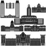 Amerykanin Architecture-1 Zdjęcie Royalty Free