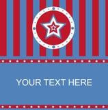 Amerykanin barwił gwiazdy ramę ilustracja wektor