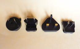 Amerykanin, europejczyk, Brytyjski i Australijskie elektryczne prymki, Fotografia Royalty Free