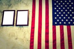 Amerykanin (Filtrujący wizerunek przetwarzający rocznika skutek ) fotografia stock