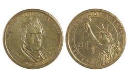Amerykanin moneta jest jeden dolarem fotografia royalty free