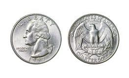 Amerykanin moneta jest kwartalnym dolarem, rok 1998 zdjęcia stock