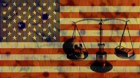 Amerykanin równowaga Fotografia Royalty Free