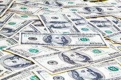 Amerykanin sto dolarów banknotu tła zakończenia up Obrazy Royalty Free