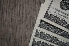 Amerykanin Sto Dolarowych rachunków zdjęcie stock