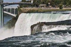 Amerykanin strona Niagara spadki Obrazy Royalty Free