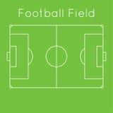 amerykanina śródpolna futbolu zieleni ilustracja ilustracja wektor