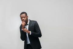 Amerykanina afrykańskiego pochodzenia facet stresujący się osobistymi kłopotami Obraz Royalty Free