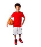 Amerykanina Afrykańskiego Pochodzenia gracz koszykówki Obraz Royalty Free