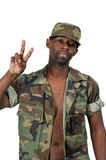 Amerykanina Afrykańskiego Pochodzenia murzyna żołnierz Obraz Royalty Free