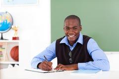 Amerykanina afrykańskiego pochodzenia nauczyciel zdjęcia stock