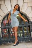 Amerykanina Afrykańskiego Pochodzenia bizneswomanu moda w Nowy Jork Fotografia Royalty Free