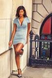 Amerykanina Afrykańskiego Pochodzenia bizneswomanu moda w Nowy Jork Zdjęcie Stock