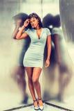 Amerykanina Afrykańskiego Pochodzenia bizneswomanu moda w Nowy Jork Obraz Royalty Free