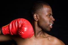 amerykanina afrykańskiego pochodzenia bokser Fotografia Royalty Free