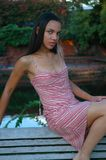 Amerykanina Afrykańskiego Pochodzenia model Fotografia Royalty Free