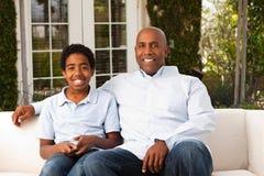 Amerykanina Afrykańskiego Pochodzenia syn i Obraz Royalty Free