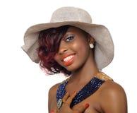 Amerykanina Afrykańskiego Pochodzenia piękna kobieta Zdjęcia Royalty Free