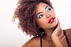 Amerykanina afrykańskiego pochodzenia piękno Obraz Royalty Free