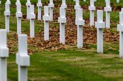 Amerykanina Drugi wojny światowa cmentarz Zdjęcia Royalty Free
