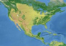 amerykanina granicy mapy obywatel Zdjęcia Royalty Free