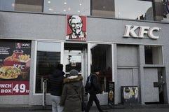 AMERYKANINA KFC ŁAŃCUSZKOWA restauracja Fotografia Stock