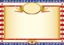 Amerykanina Kraft plakat Zdjęcie Stock