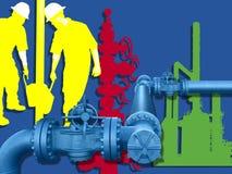 AMERYKANINA NAFCIANY przemysł gazowy Obraz Royalty Free