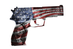 amerykanina pistolet Zdjęcie Stock