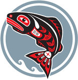 amerykanina rybi skokowy rodzimy łososia styl Fotografia Royalty Free