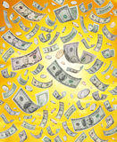 amerykanina spadać pieniądze target1275_0_ Obrazy Stock
