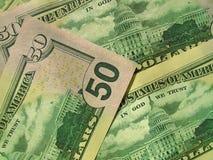 Amerykańscy dolary Zdjęcia Royalty Free