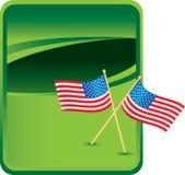 amerykańska tła flaga zieleń Zdjęcia Stock
