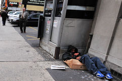 Amerykański bezdomny Obrazy Royalty Free