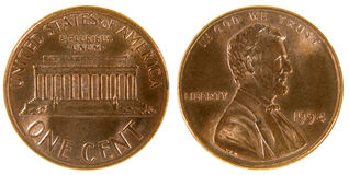 amerykański cent Zdjęcie Royalty Free