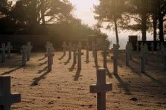 Amerykański cmentarz i Memeorial Obrazy Royalty Free