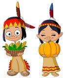Amerykańsko-indiański dzieci Zdjęcia Stock