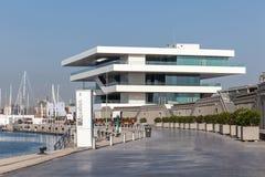 Ameryki filiżanki budynek w Walencja, Hiszpania Obrazy Stock
