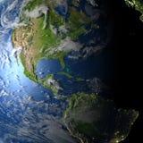 Ameryki na planety ziemi Zdjęcie Royalty Free