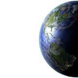 Ameryki na realistycznym modelu ziemia Obrazy Royalty Free