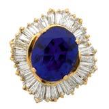 amethyst кольцо диаманта Стоковая Фотография RF