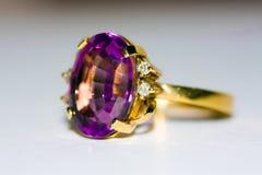 amethyst кольцо Стоковые Изображения