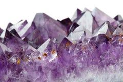 amethyst кристаллы стоковые изображения