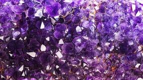 amethyst кристаллы Стоковое фото RF