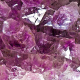 Amethyst. Crystals large crystals in close-up royalty free stock photos