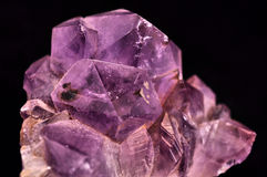 Amethyst. Isolated amethyst on black background Stock Photography