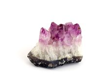 Amethyst. On white background (Isolated Royalty Free Stock Image