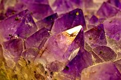 Amethyst. A closeup of the crystal royalty free stock image